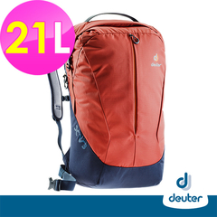 [German deuter] X-Venture XV3 Multifunctional City Travel Backpack 21L (3850418 Red / Grey Blue / Student School Bag / Business / Travel)