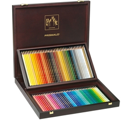 CARAN d ACHE Prismalo ชุดดินสอสีไม้ระบายน้ำ กล่องไม้ 80 สี *999.480