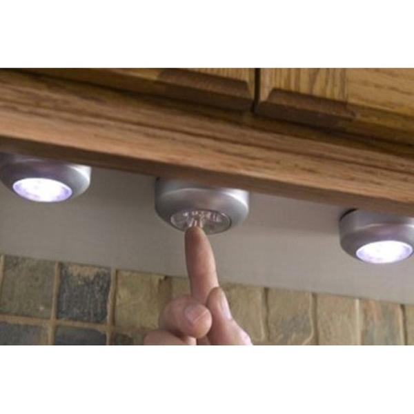 Alpha ไฟติดผนัง LED 3 ดวงแบบสัมผัส สำหรับติดผนังห้องครัว ตู้เสื้อผ้า รุ่น Stick Touth Lamp