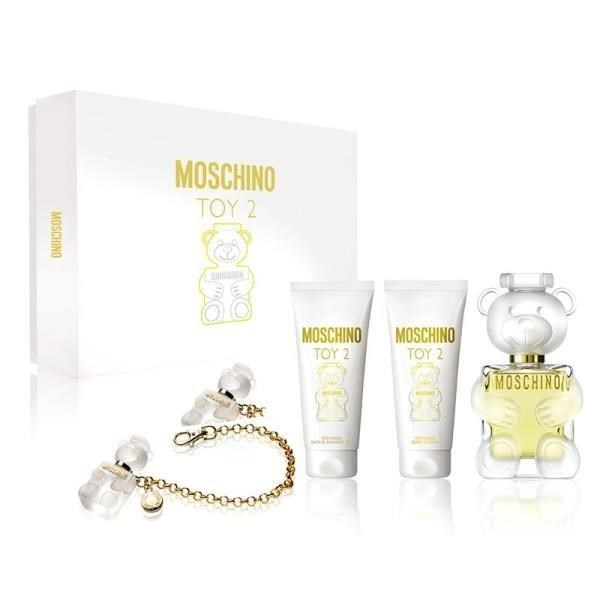 MOSCHINO Toy 2 EAU DE TOILETTE Gift Set (100มล. Eau De Toilette + 100มล. Body Wash + 100มล. Body Lotion)