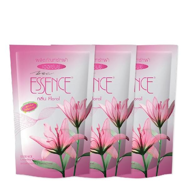 เอสเซ้นซ์ น้ำยาซักผ้า ชมพู 450 มล. x 3 ถุง Essence liquid detergent 450 ml x 3 bags > 1ชุด