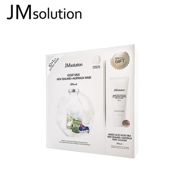 【JMsolution】澳洲山羊奶彈潤面膜 30ml*11+ 洗面乳100ml*1 套組(韓國正品)