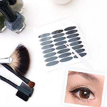 Belle Chi Beauty ☆ Korea Double Eyelid Sticker Eyeliner Sticker (Black) Wide 3mm Non-Reflective Natural Style-Value 144 ชิ้นพร้อมแท่งรูปตัว Y