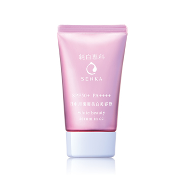 SENKA White Beauty Serum in CC SPF50+ PA++++