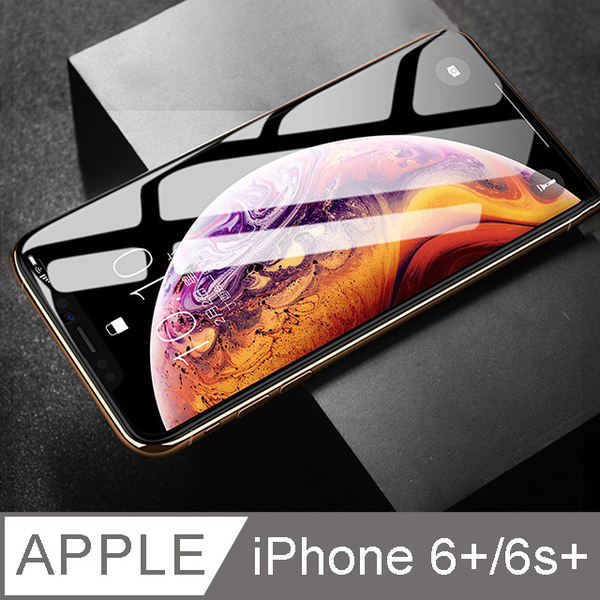 【Cap】滿版防窺鋼化玻璃貼For iPhone i6+/6S+