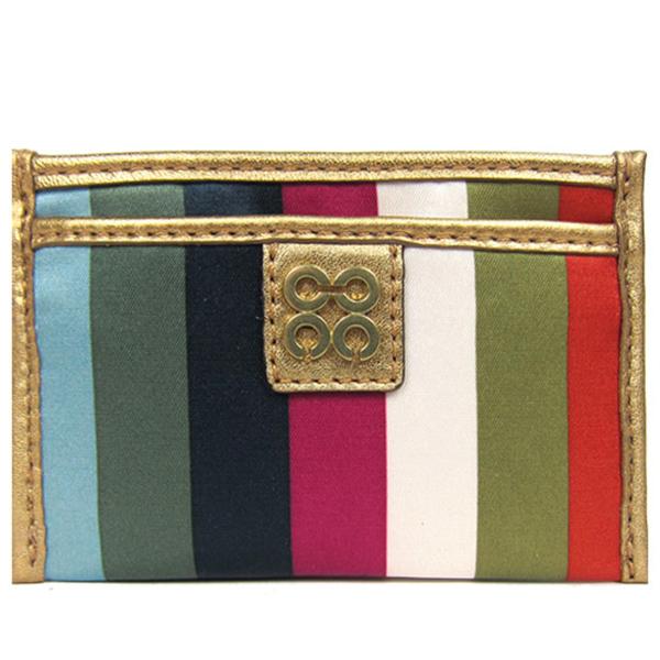 COACH JULIA ที่ใส่นามบัตรผ้าซาตินคลาสสิควินเทจ (สี)