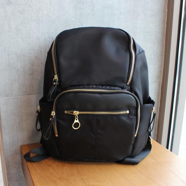 (ela)[Ela] Backpack with water-repellent nylon cloth-3 colors