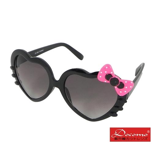 [แว่นกันแดด Docomo Girls '] Love frame design น่ารักรูปโบว์น่ารักของสาวน้อย UV400