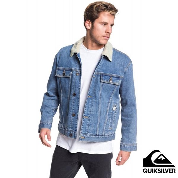 [QUIKSILVER] เสื้อแจ็คเก็ต DENIM JACKET SHERPA