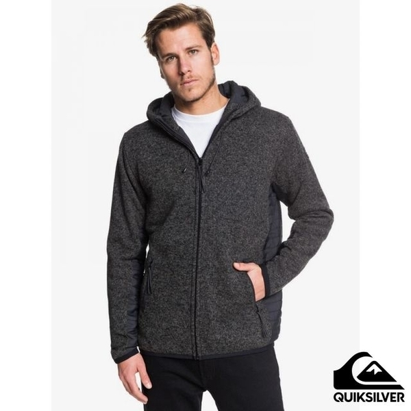 [QUIKSILVER] KELLER PUFF Cotton Hooded Jacket Black Grey