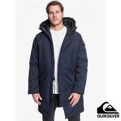 [QUIKSILVER] KAYAPA เสื้อแจ็คเก็ตมีฮู้ดกันน้ำตัวยาวสีน้ำเงินกรมท่า