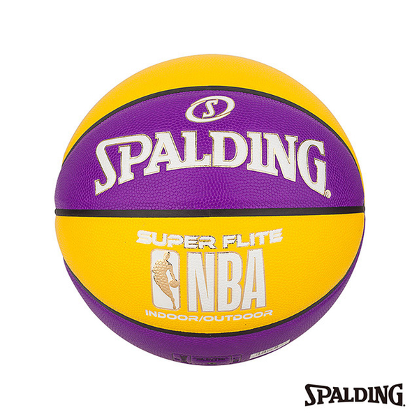 (spalding)SPALDING Spalding NBA SUPER FLITE Series-Yellow/Purple Synthetic Leather No. 7
