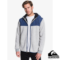[QUIKSILVER] KELLER MIX HOOD Inner Brush Hooded Jacket Grey Blue