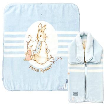 (Chickabiddy)Chickabiddy Peter Rabbit baby anti-sliding sleeve blanket gift box - blue