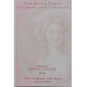Papier Poudre Queen of England makeup powder paper for small head makeup (rose pink-1 pack, PP-1000)