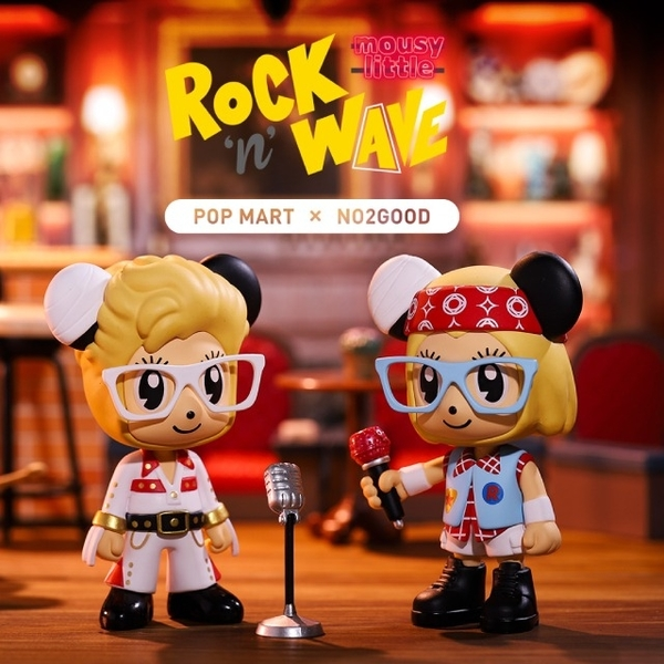 (POPMART)StayReal Mouse Little Rock Wave Series Doll (Single Entry Random)