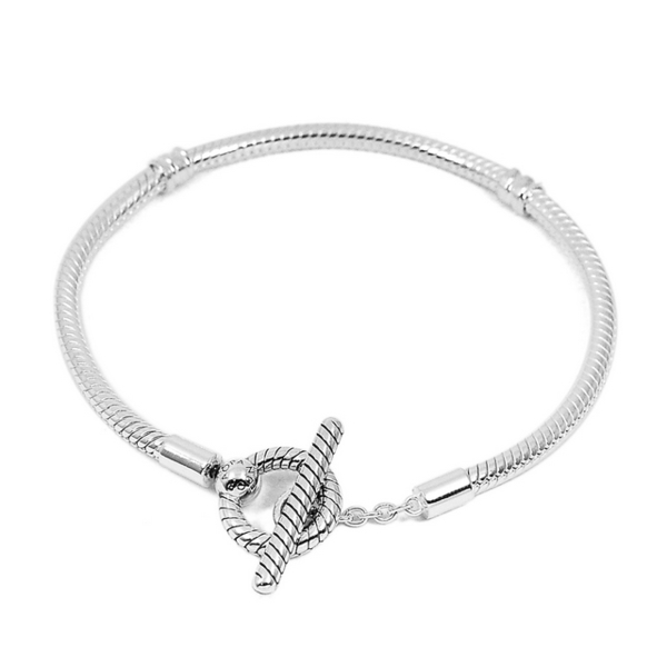 (pandora)Pandora Pandora T-buckle Snake Chain 925 Sterling Silver Bracelet Bracelet