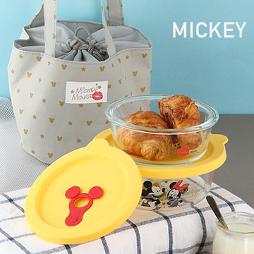 【迪士尼Disney】Super Star玻璃保鮮盒提袋組(350ml+550ml)