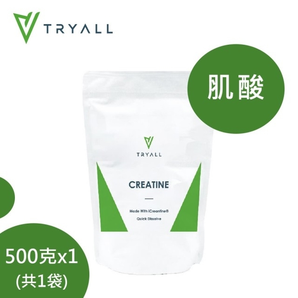 【台灣 TRYALL】 iCreatine肌酸 (500g/包)