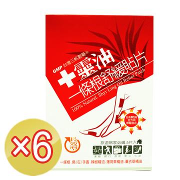 《十靈本舖》十靈油一條根舒緩貼片 (長效型)-5片裝x6盒