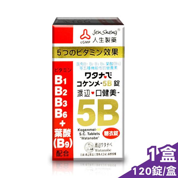 渡邊 人生製藥 口健美 5B群 120錠