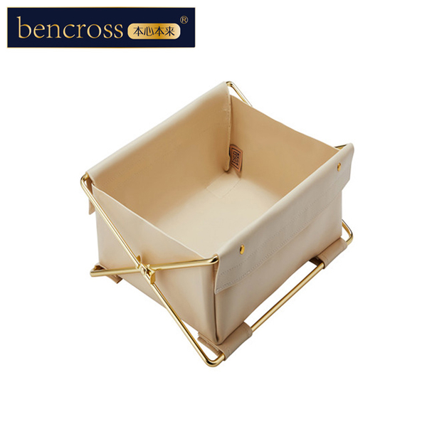 (bencross)bencross original heart | collapsible storage box-beige-single compartment