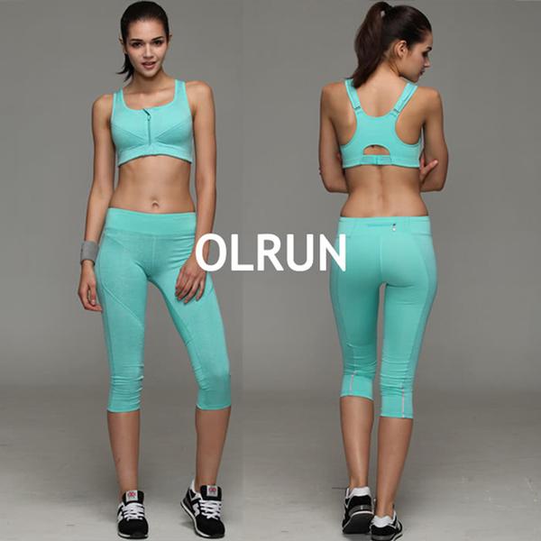 (OLRUN)[OLRUN] Fitness, Yoga, Jogging, Leisure, Crossing Beauty Back, Medium Intensity Sports Underwear, Ink Blue