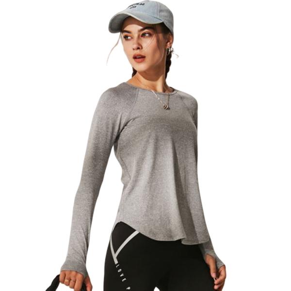 (OLRUN)[OLRUN] Sports Fitness Yoga Running Casual Loose Hooded Jacket Black