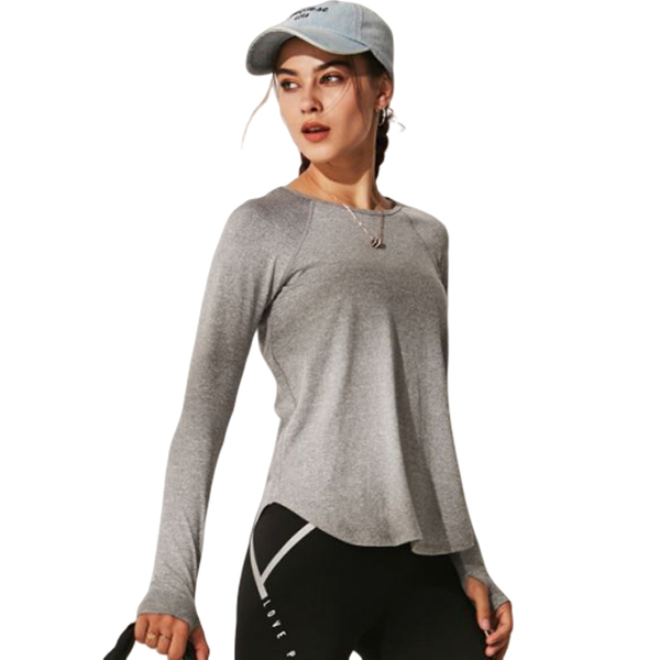 (OLRUN)[OLRUN] Sports Fitness Yoga Running Casual Loose Hooded Jacket Ink Blue