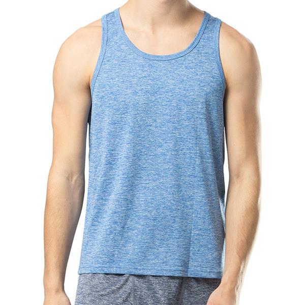 (棉花共和國)【Cotton Republic】 Jingliang quick-drying vest-light denim blue