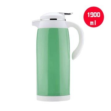 【快樂家】不繡鋼真空玻璃內膽抗酸鹼保溫壺1.9L-綠色