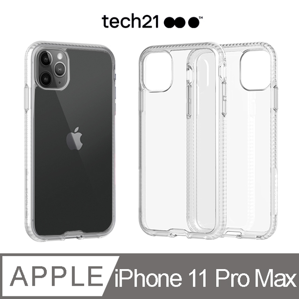 (Tech 21)British Tech 21 Impact PURE CLEAR Anti-collision Hard Clear Protective Case - iPhone 11 Pro Max