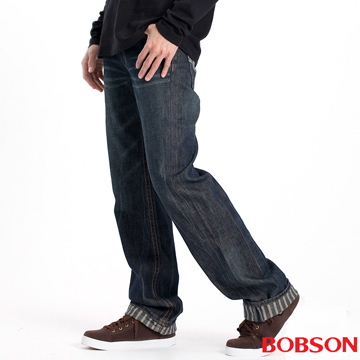 (BOBSON)[Within] BOBSON men stripe Straight (1737-53)