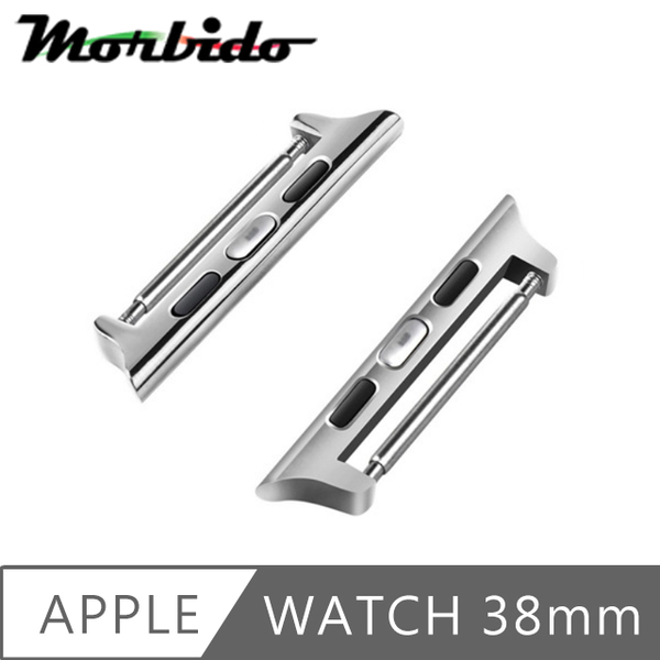 (Morbido)Morbido Apple Watch 38mm Metal Strap Connector (Snap/Silver)