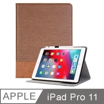 Apple iPad Pro 11-inch fresh straight stitch card slot storage case light brown