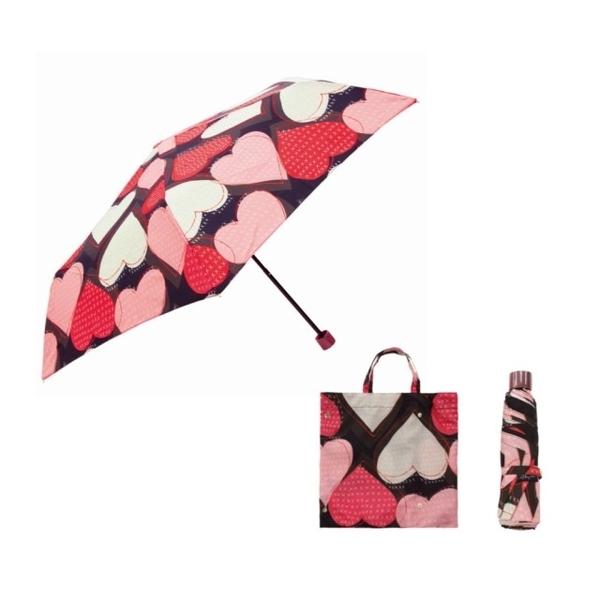 (Prairiedog)Japan Prariededog weatherproof dual-use UV folding storage umbrella + multifunctional storage umbrella bag-heart-shaped (black)