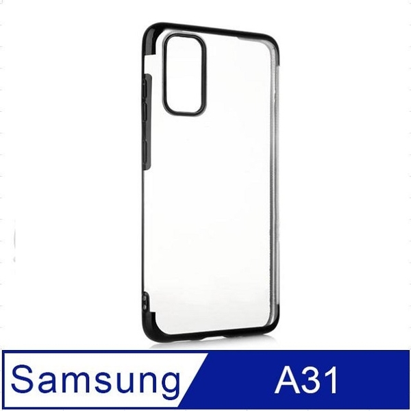 Samsung Galaxy A31 Electroplating Frame Transparent Phone Case Protective Case