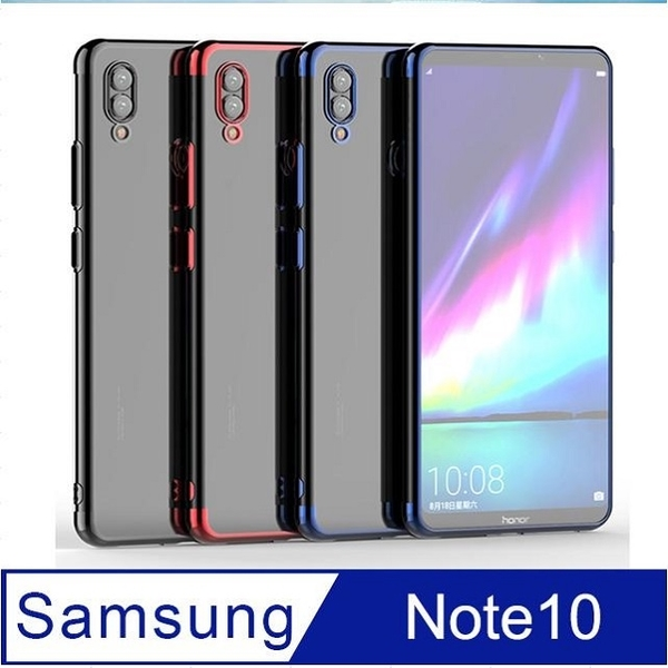 Samsung Samsung Galaxy Note 10 Plating Frame Transparent Phone Case Protective Case