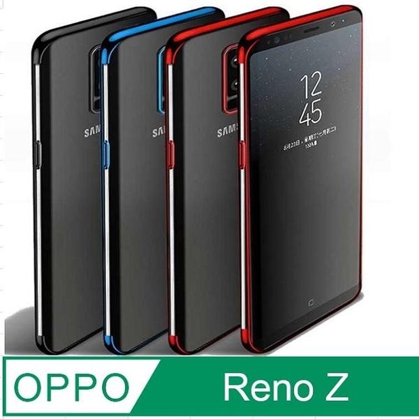 OPPO Reno Z Plating Frame Transparent Phone Case Protective Case