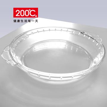 【200℃】8吋 耐熱玻璃調理盤 R705-8