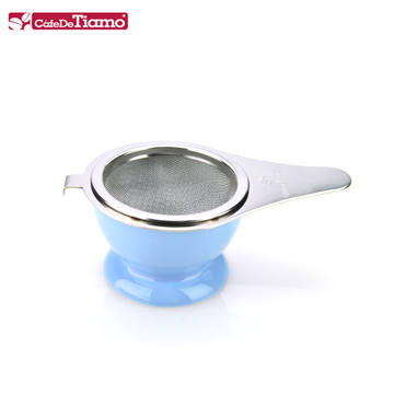 Tiamo stainless steel ladle filter set (with ceramic base)-three colors