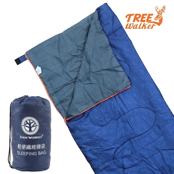 (treewalker)TreeWalker Lightweight Fiber Sleeping Bag-Azure Blue