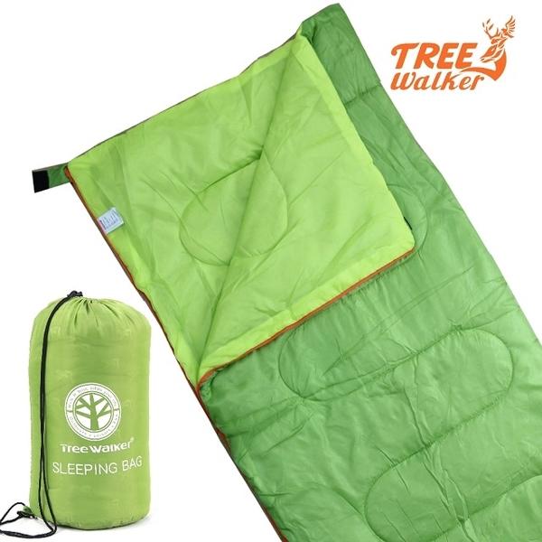 (treewalker)TreeWalker Lightweight Fiber Sleeping Bag-Turquoise/Turquoise