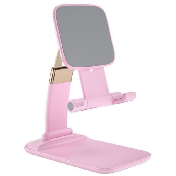 鋅合金伸縮摺疊手機支架-粉色