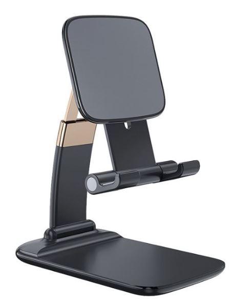 鋅合金伸縮摺疊手機支架-黑色