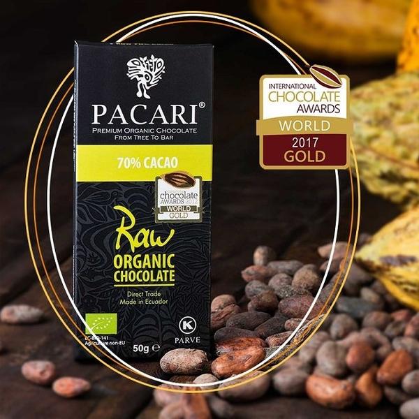 (Pacari)Pacari 70% classic fresh raw chocolate-50g/piece