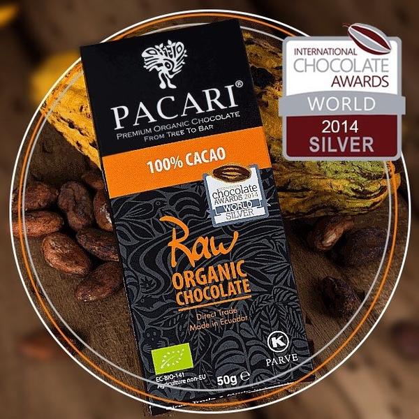 (Pacari)Pacari 100% classic fresh raw chocolate-50g/piece