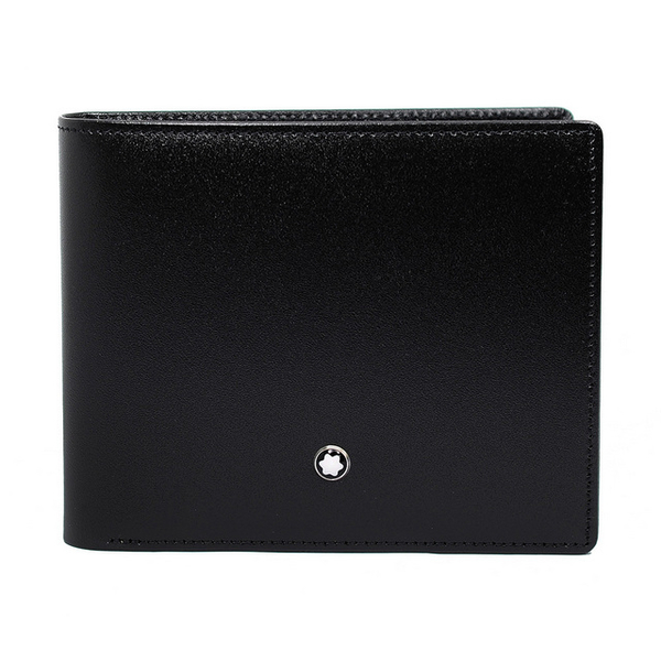 (montblanc)MONTBLANC Montblanc Meisterstuck Collection Classic Shiny Cowhide 6 Card Short Clip Black