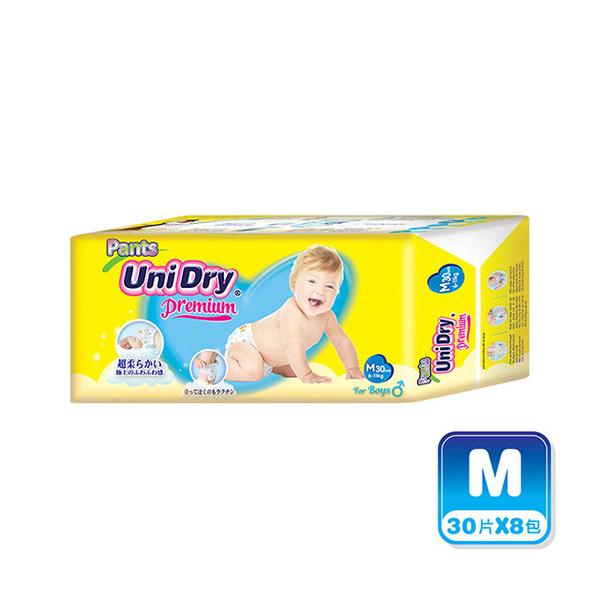 優力褲 嬰兒褲型紙尿褲特級版男生版M30片x8包/箱