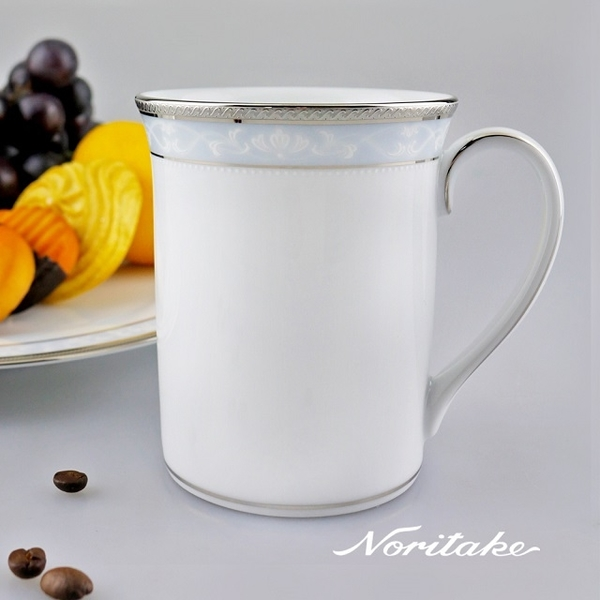 【Noritake】美景之都馬克杯(銀)